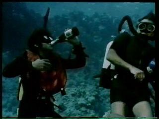 02. Бруно Вайлати. Сцена с муренами из фильма Опасность в глубине (Дневник Нептуна) нападение на  людей