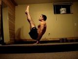 Силовая акробатика: Уголок (L-V-sit) с переходом в горизонт (планше) и стойку на руках