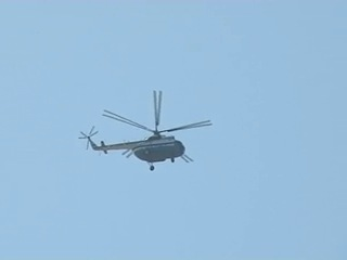 Скоростная съемка вертолета