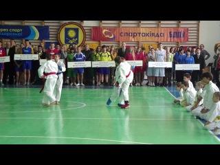 показательное выступление сборной по каратэ-до