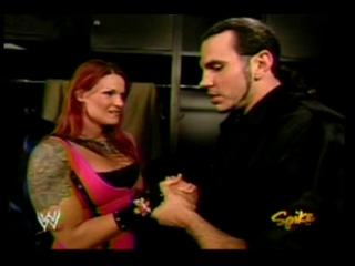 Lita Matt Hardy backstage(WWE Raw 02.08.2004)