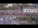 Поезд сбил машину авария на переезде в Щербинке Водитель авто в шоковом состоянии