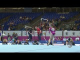 Evgeniya SHELGUNOVA RUS, FX, AA Final, Junior European Gymnastics Championships 2012