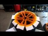 Нанесение Plasti Dip на колеса при помощи баллончика