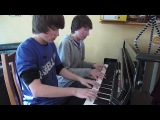 DragonForce - Through the Fire and Flames Piano 4 Hands Cover