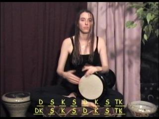 Raquy Danziger - дарбука. Обучающее видео. Слэп