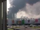 Пожар не далеко от ТЦ Мега Белая Дача