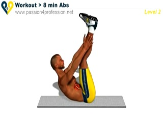 ������ ����� - 8 Min Abs Workout - level 2