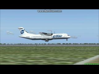 Моя посадка ATR-72-500 UTair в аэропорту Шереметьево