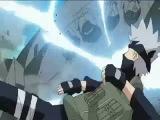 Саске против Наруто,а Наруто спасает Сакуру, Какаши и Сакуры