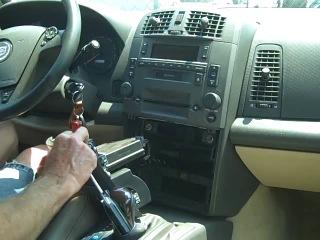 Cadillac CTS 2003-2007 Снятие штатной магнитолы