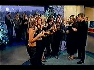 Girls Aloud - Holding champagne (This morning december 2002)