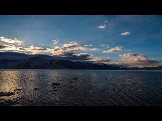 Озеро Бангонг-Цо, Китай и Индия (Pangong Tso lake, India & China) <timelapse>