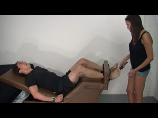 Seager in the tickling chair {f-m}