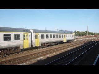 Дизель-поезд ДР1Б-501 отправляетс со станции Гудогай