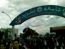 The truth in Syria . the students of Tishreen University in Lattakia support Alassad and refuse the American and arabic terroris