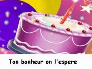 Поздравление с днем рожденья на французском 270