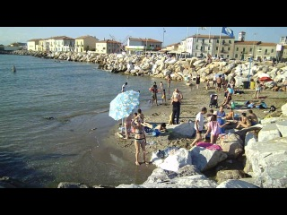 Марина ди Пиза. Тирренское море.