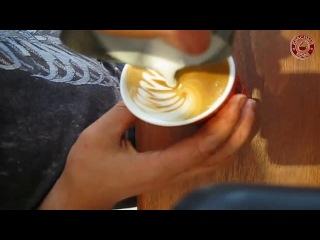 6 стаканов капучино за 3 минуты. master barista. hq latte art