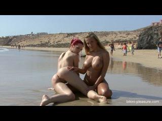 Секси на общественном пляже ariel and chikita - beach scenes 2