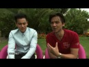 Eddie Peng and Stephen Fung on East and West collaborating at Tai Chi O Interviews.9/1/2012 in Venice, Italy8