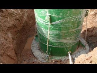 Монтаж герметичного кессона на скважину при высоком УГВ