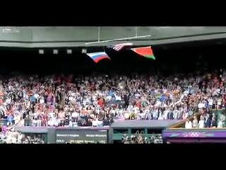 Флаг США, как символ падающей империи, не устоял перед флагами братских народов во время олимпиады