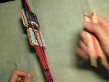 Двусторонняя техника ткачества поясов на дощечках