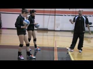 Волейбол Обучающее видео Техника удара в стойке