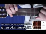 Аккорд A. Ля мажор. A-dur. Позиция 1. Как играть на гитаре. Уроки игры на гитаре табы urokimusic