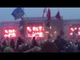 Начало выступления Rammstein!!