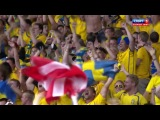 EURO 2012. Групповой этап. Группа D. 2й круг. Швеция - Англия 2-1 (Олоф Мельберг)