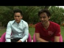 Eddie Peng and Stephen Fung on East and West collaborating at Tai Chi O Interviews.9/1/2012 in Venice, Italy9