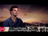 Taylor Lautner Talks Twilight Breaking Dawn Part 2 (Interview)