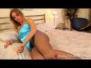Hayley Marie blue satin nightie silky lingerie