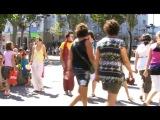Русский клоун Дурилов на улицах Барселоны
