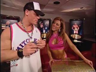 John Cena Dawn Marie Backstage (WWE SmackDown 29/01/2004)
