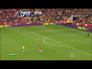 Чемпионат Англии 2013-14 / 8-й тур / Арсенал - Норвич Сити / 2 тайм [720p HD]
