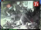 Момент стрельбы на крыльце ночного клуба «Пурга». Мурманск...