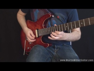 Fusion Licks Guitar Lesson #2 Crazy Guthrie Govan-style Whole-Tone Lick by Martin Miller
