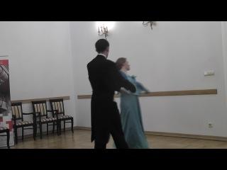 Екатерина Громова и Иван Голубев на вечере, посвященном 400-летию династии Романовых
