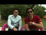 Eddie Peng and Stephen Fung on East and West collaborating at Tai Chi O Interviews.9/1/2012 in Venice, Italy(4)