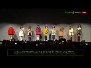 130105 SNSD - Dancing Queen + Talk + I Got A Boy on Naver Music V Concert