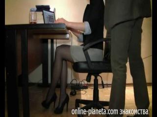 Начальник трахнул секретаршу жопу