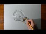 How I draw a realistic lightbulb 2