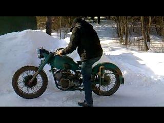Мотоцикл Урал М-72 и Позитив от друзей))