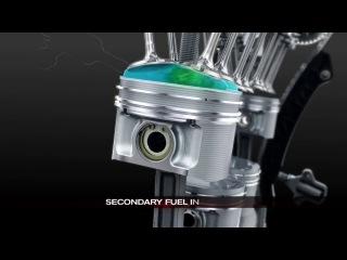 Nissan 3D работа двигателя внутреннего сгорания