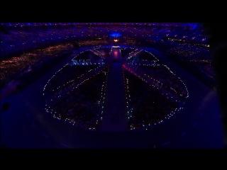 Freddie Mercury, Brian May, Roger Taylor and Jessie J на Церемонии закрытия XXX Олимпийских игр в Лондоне (12.08.12)