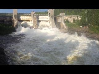 Открытие шлюза ГЭС «Иматра» Финляндия. Август 2013
