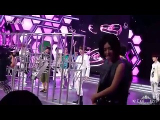 [Fancam] EXO - Baekhyun's funny reaction when playing game at 120703 Happy Camp recording
